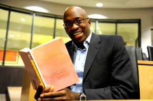 Jacob Dlamini reading his book, Native Nostalgia. PHOTO: UJ.
